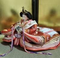 Vintage Japanese Hina doll Princess Queen in Kimono years Figure Plush 10""