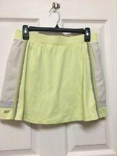 Tail Tech Women's Yellow Tennis Golf Skirt Skorts Shorts Nylon Size Med #154