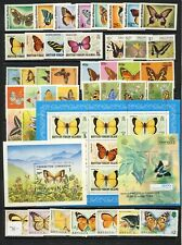 Butterfly on stamp collection with shets and sets mnh vf complete 78.00