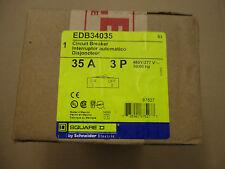 Square D EDB34035, 35 AMP 480 VOLT 3 POLE Circuit Breaker- NEW
