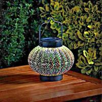 New 14cm Solar Outdoor 3D Cosmos Garden Patio Table Light Hanging Garden Lantern