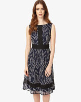 Phase Eight Delicia Embroidered Dress Blue Size UK 14 rrp £175 LF171 DD 12