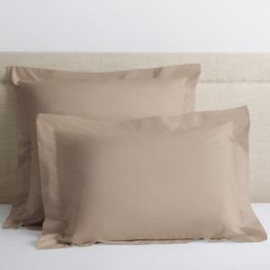 Company Cotton Linen Solid 300 Thread Count Percale Euro Sham