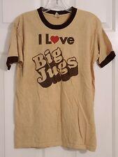 "Vintage ""I Love Big Jugs"" T Shirt 1970's"