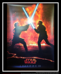 STAR WARS 3 REVENGE OF THE SITH Vinyl Banner 4x6 ft Movie Poster Original 2005