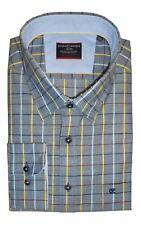 Casa Moda Premium Cotton Button Down Collar LS Block Check Shirt Size XXL to 5XL