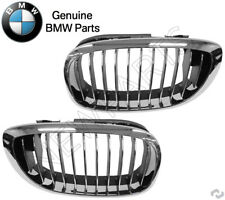 BMW E46 325Ci 330Ci Front Left + Right Grille Chrome Frame And Grille Genuine