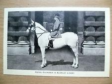 Vintage & Original Postcard- ROYAL OUTRIDER IN SCARLET LIVERY, BUCKINGHAM PALACE