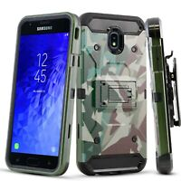 Samsung Galaxy J7 2018 Case, Kickstand Case with Belt Clip + Screen Protector
