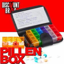 NEU █ Tablettenbox PILLENBOX MIT ETUI 7 Tage 4 Fächer – Medikamentenorganizer
