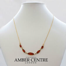 Italian made Classic Baltic Necklace Amber in 9ct Gold-GN0057 RRP£325!!!