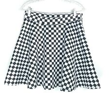 Hot Topic Womens Size Medium Skirt Black White Ruffle