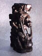 """Fine Vintage/Antique African Hardwood Nine-Figure Carved Sculpture~8""""~One Piece"""