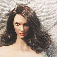 Custom 1/6 Scale Elegant Sex Girl Head Sculpt 002 For Hot Toys Phicen S07C Body
