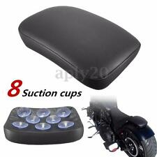 8 Suction Cups Pillion Passenger Pad Seat For Harley Bobber Dyna Sportster