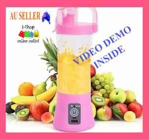 Blender Portable USB Juicer Rechargeable Cup Mixer Fruit Mini Smoothies Personal