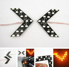 2 Pcs Amber Arrow Indicator 14SMD LED Car Side Mirror Turn Signal Light For Benz