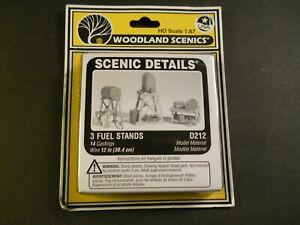 Woodland Scenics 3 Fuel Stands D212