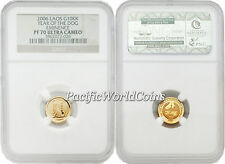 Laos 2006 Dog Eminence 10KK Gold NGC PF70