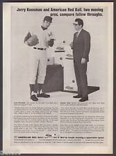 1970 Mets Jerry Koosman Photo Red Ball Moving print ad