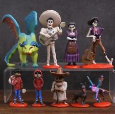 Disney Coco Movie Action Figure set Toy Cake Topper Miguel Riveras Pepita 9 pcs