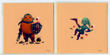 Olly Moss The Legenda of Zelda Masks Screen Prints Set of 2 5x5 Inches Numbered