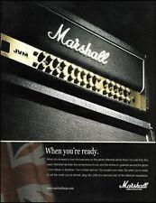 Jim Marshall JVM series 410H head amplifier advertisement 2010 ad print