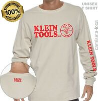 KLEIN TOOLS LOGO ENTERO LONG SLEEVE T-SHIRT - USA CONSTRUCTION, HANDYMAN WORKER