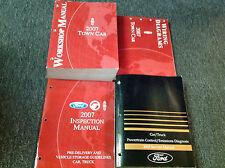 2007 LINCOLN TOWN CAR Service Repair Shop Manual Set W EWD & PCED + Inspection