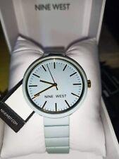 Nine West NW2416 Pastel Blue Dial Coated Resin Bracelet Ladies Watch