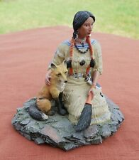 "The Hamilton Collection  ""Nature's Guardian""  Native Indian Figurine"