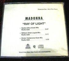 MADONNA RAY OF LIGHT CLUB RADIO EDITS MAVERICK PICTURE WHITE BACK INSERT DISC CD