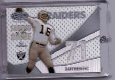 2004 LEAF CERTIFIED MATERIALS JIM PLUNKETT FABRIC OF THE GAME  AUTHENTIC 23/71