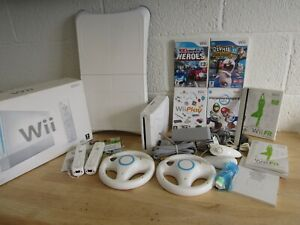 Nintendo Wii Console Bundle x6 Games-inc Wii Sports/Mariokart (Hospiscare)