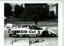 Lammers & Watson SILK CUT JAGUAR XJR-8 gagnants Jarama 1987 signé photographie