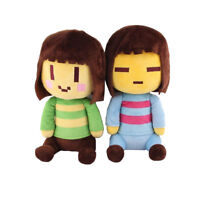 "2pcs/set Cute Undertale Frisk and Chara Plush Doll Stuffed Toy 8"" 20cm Xmas Gift"