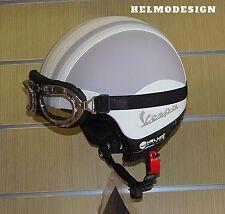 Casco Vespa lambretta guzzi Vintage retrò personalizzato in pelle s m l xl