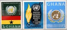 GHANA 1960 91-93 89-91 Human Rights Day Tag d. Menschenrechte Emblem Torch MNH