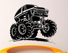 Monster Truck Wall Decal Vinyl Sticker Big Monster Car Interior Art Decor (3bmc)