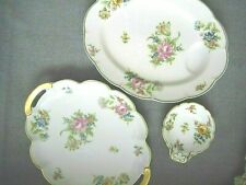 Theodore Haviland 2 Platters & Dish Rosedale Pattern - 11.25 inches