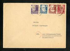 Soviet No. 213+214+218+220 LETTER Leipzig 7.4.1949 after Bad Kreuznach (952408)