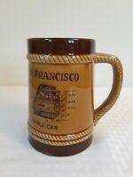San Francisco California Souvenir brown  Beer Stein or Coffee Mug retro vintage