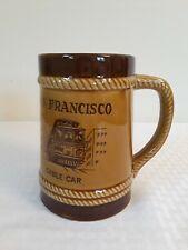 Vintage San Francisco California Souvenir brown Beer Stein or Coffee Mug retro