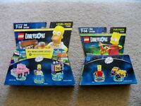Lego Dimensions - Simpsons - 71202 Homer Level Pack & 71211 Bart Fun Pack - New