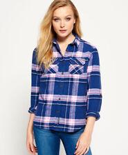 Neues Damen Superdry  Milled Flannel Hemd Quinn Check