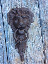 Lion Head Door Knocker Brown Cast Iron