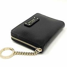 Kate Spade Jeanne Small Key Ring Zip Around Card Case Wallet Dustbag $89 Black