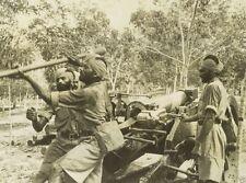 Sikh Soldiers Training Artillery Gun Singapore 8x10 World War II WW2 Photo