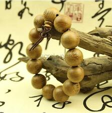 18mm Women Men Fashion Idiomatical Buddhism Wood Beads Bracelet Bangle Rosary