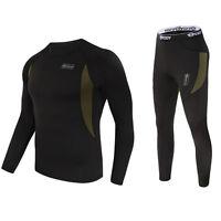 Men's Outdoor Tactical Winter Warm Sports Fleece Underwear Thermal Underclothes